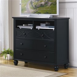 Trent Home Sanibel TV Chest in Black