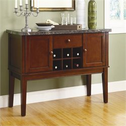 Homelegance Decatur Marble Server in Espresso