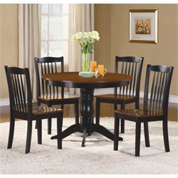 Homelegance Andover 5 Piece Dinning Table Set in Black