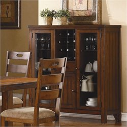 Homelegance Clayton Curio in Dark Oak