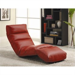 Trent Home Gamer Floor Lounge Chair in Red