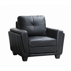 Homelegance Dwyer Chair in  Black Vinyl
