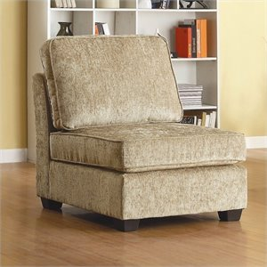 Trent Home Burke Upholstered Slipper Chair in Beige