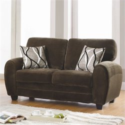 Trent Home Rubin Loveseat in Chocolate