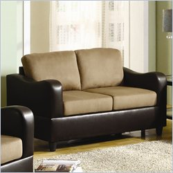 Homelegance Anthony Loveseat in Brown and Dark Brown