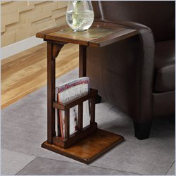 Trent Home Berman Chair-Side Table in Dark Oak
