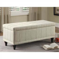 Homelegance Afton Storage Bench in White