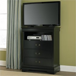 Trent Home Marianne TV Chest in Black