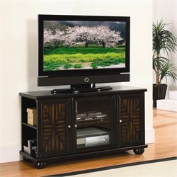Trent Home Rufus TV Stand (Rta) in Warm Dark Brown Finish