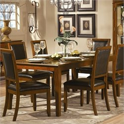 Homelegance Avalon Rectangular Dining Table in Low Sheen Cherry