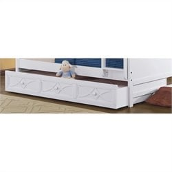 Trent Home Sanibel Bunk Bed Trundle in White