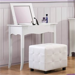 Trent Home Sparkle Vanity with Mirror in White