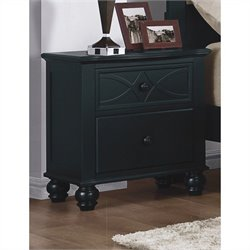 Trent Home Sanibel Night Stand in Black