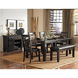 Trent Home Hawn Dining Table with Butterfly Leaf