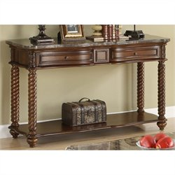 Trent Home Lockwood Sofa Table with Marble Top