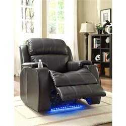 Trent Home Jimmy Power Recliner Chair in Black