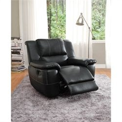 Trent Home Cantrell Leather Glider Reclining Chair