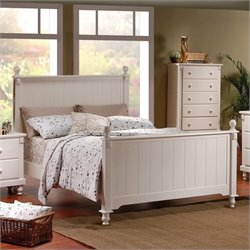 Homelegance Pottery Panel Bed in White Finish - California King