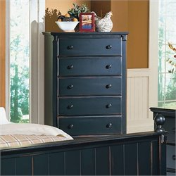 Homelegance Pottery 5 Drawer Chest in Black Finish