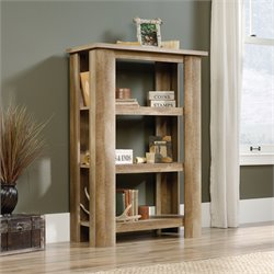 Sauder Boone Mountain 3 Shelf Bookcase in Craftsman Oak