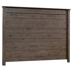 Sauder Carson Forge Full Queen Panel Headboard in Coffee Oak