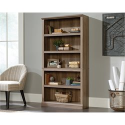 Sauder Select 5 Shelf Bookcase in Salt Oak