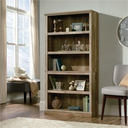 Sauder Select 5 Shelf Bookcase in Lintel Oak