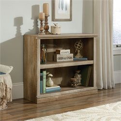Sauder Select 2 Shelf Bookcase in Lintel Oak