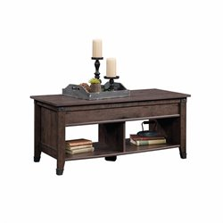 Sauder Carson Forge Lift Top Coffee Table in Coffee Oak