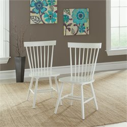 Sauder Cottage Road Spindle Back Chair in White (Set of 2)