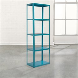 4 Shelf Tower Bookcase in Peacock Blue