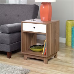 Sauder Soft Modern End Table in Decorative Walnut