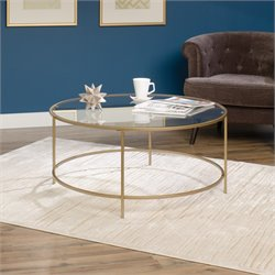 Round Coffee Table in Satin Gold