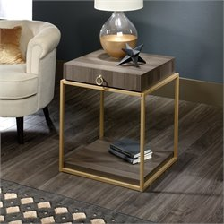 Sauder International Lux End Table in Diamond Ash