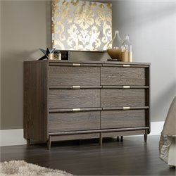 6 Drawer Dresser in Fossil Oak