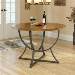 Round Dining Table in Pecan