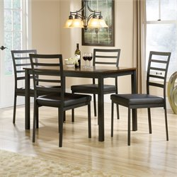 Sauder Shoal Creek 5 Piece Dining Set in Black