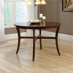 Sauder Palladia Round Dining Table in Cherry