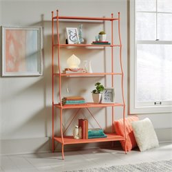 5 Shelf Bookcase in Coral