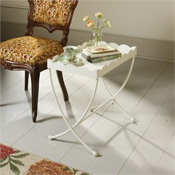Sauder Eden Rue End Table in Cream