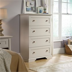 Sauder New Grange 4 Drawer Chest in Cobblestone