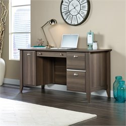 Pedestal Desk in Diamond Ash