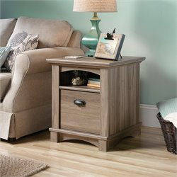 Sauder Harbor View End Table in Salt Oak