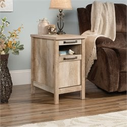 Sauder Cannery Bridge End Table in Lintel Oak