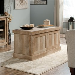 Sauder Cannery Bridge Crate Coffee Table in Lintel Oak