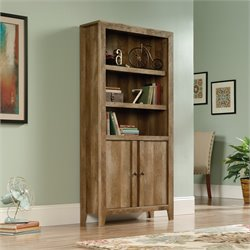 Sauder Dakota Pass 3 Shelf Bookcase in Craftsman Oak