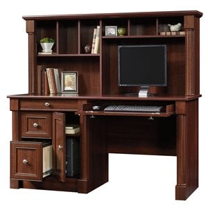 Computer Desk with Hutch in Cherry