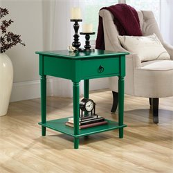 Sauder Palladia Side Table in Emerald Green