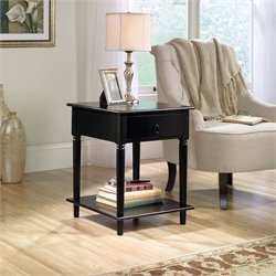 Sauder Palladia Side Table in Black
