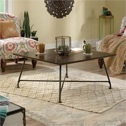 Sauder Viabella Coffee Table in Chestnut Brown